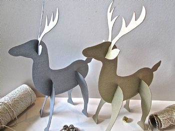 3D Reindeer Die Cuts Place Cards/Decorations